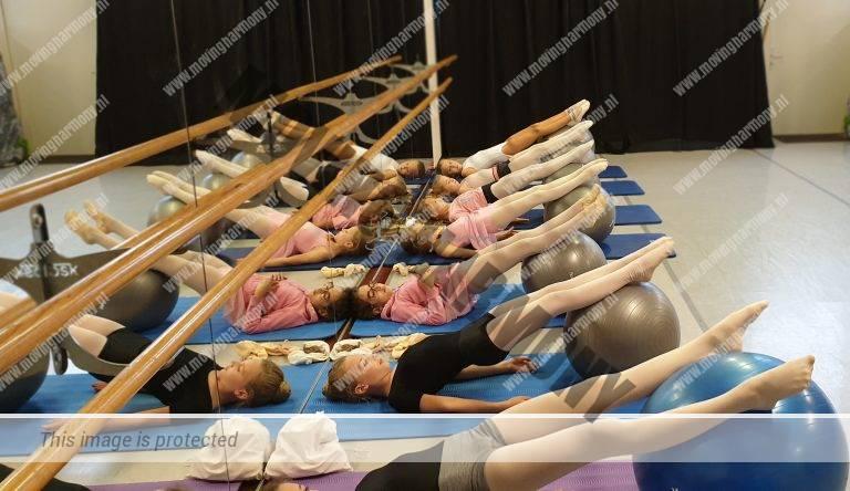 PBT; balletlessen; uitdraai; gymbal
